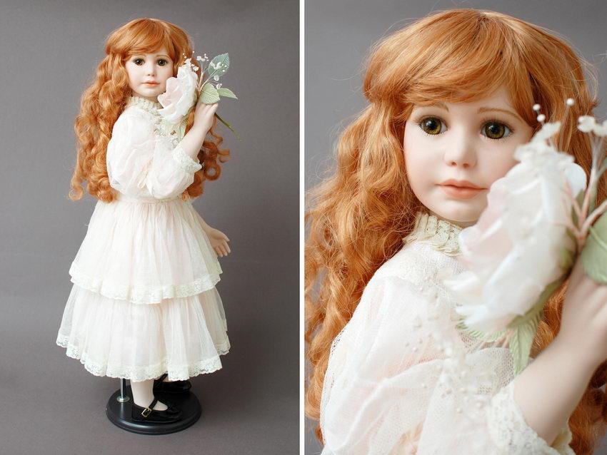 коллекционная лимитная фарфоровая кукла Мегги автор Thelma Resch