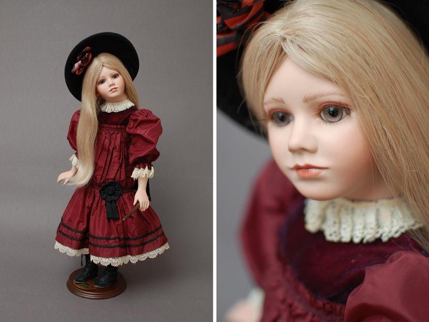 коллекционная редкая кукла из фарфора Janett Ness