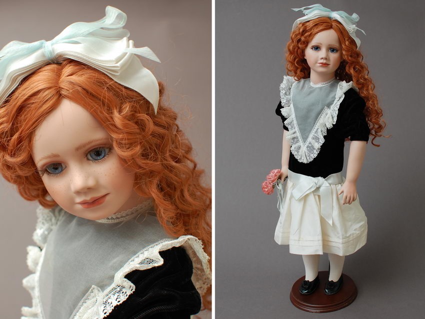 коллекционная фарфоровая кукла Ariel Janett Ness