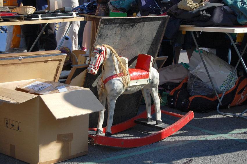 антикварная лошадка качалка