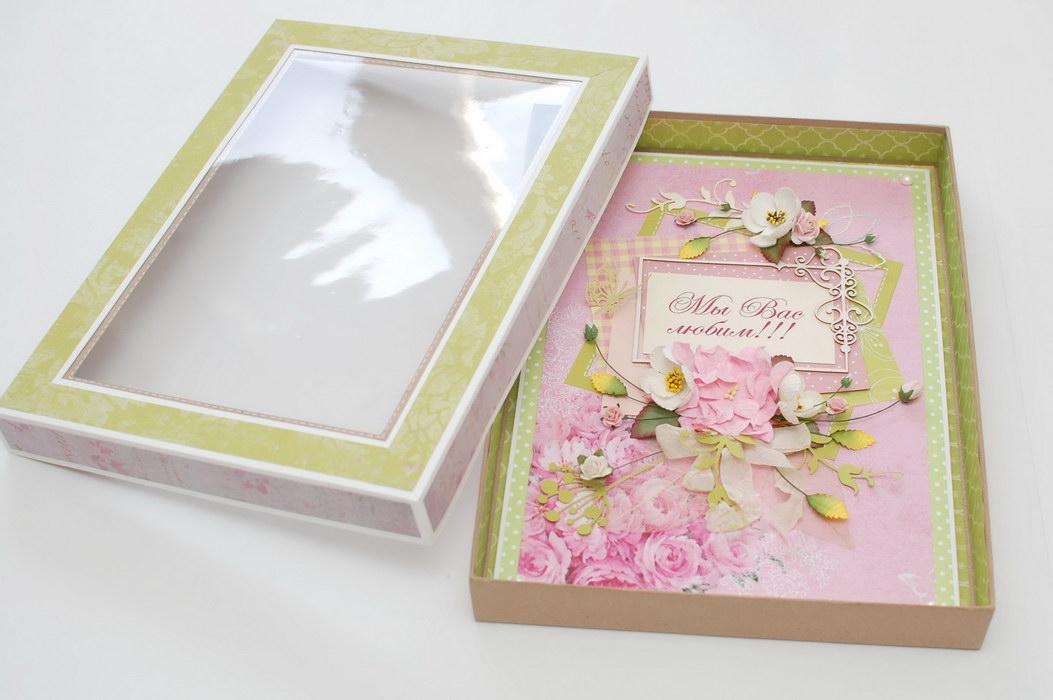 цветочная открытка на юбилей