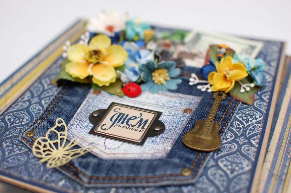 цветы на объемной открытке