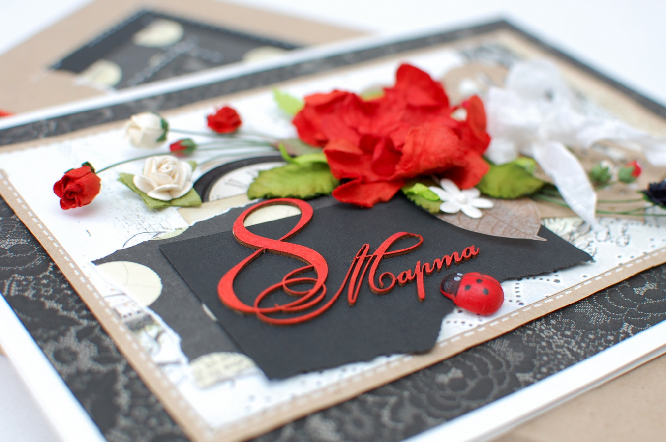 С 8 марта необычная открытка, свадьбой года