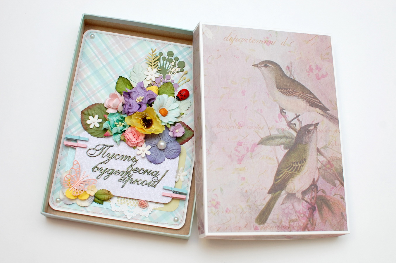 открытка для женщин на праздник весны
