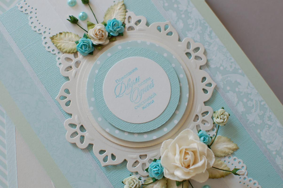 декор свадебной открытки
