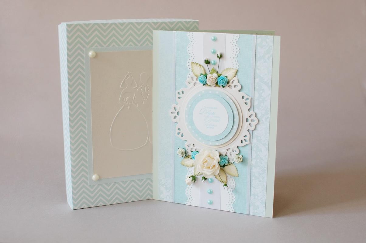 свадебная открытка конверт ручной работы