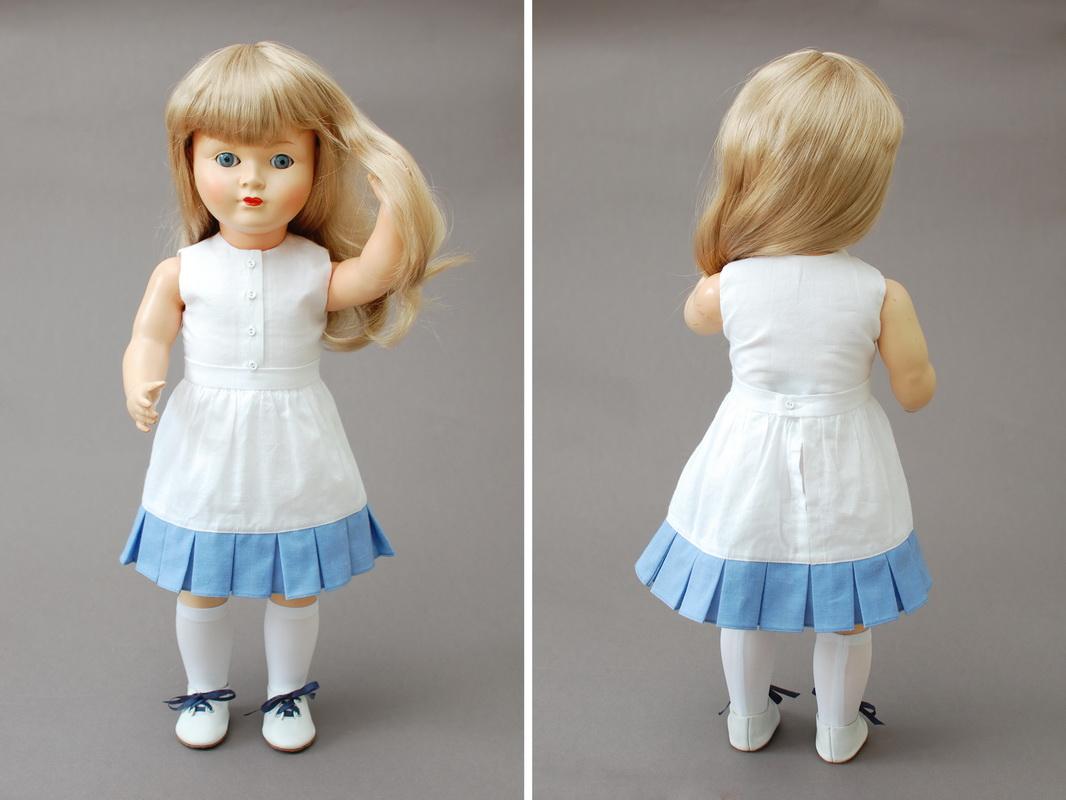 немецкая композитная кукла 14