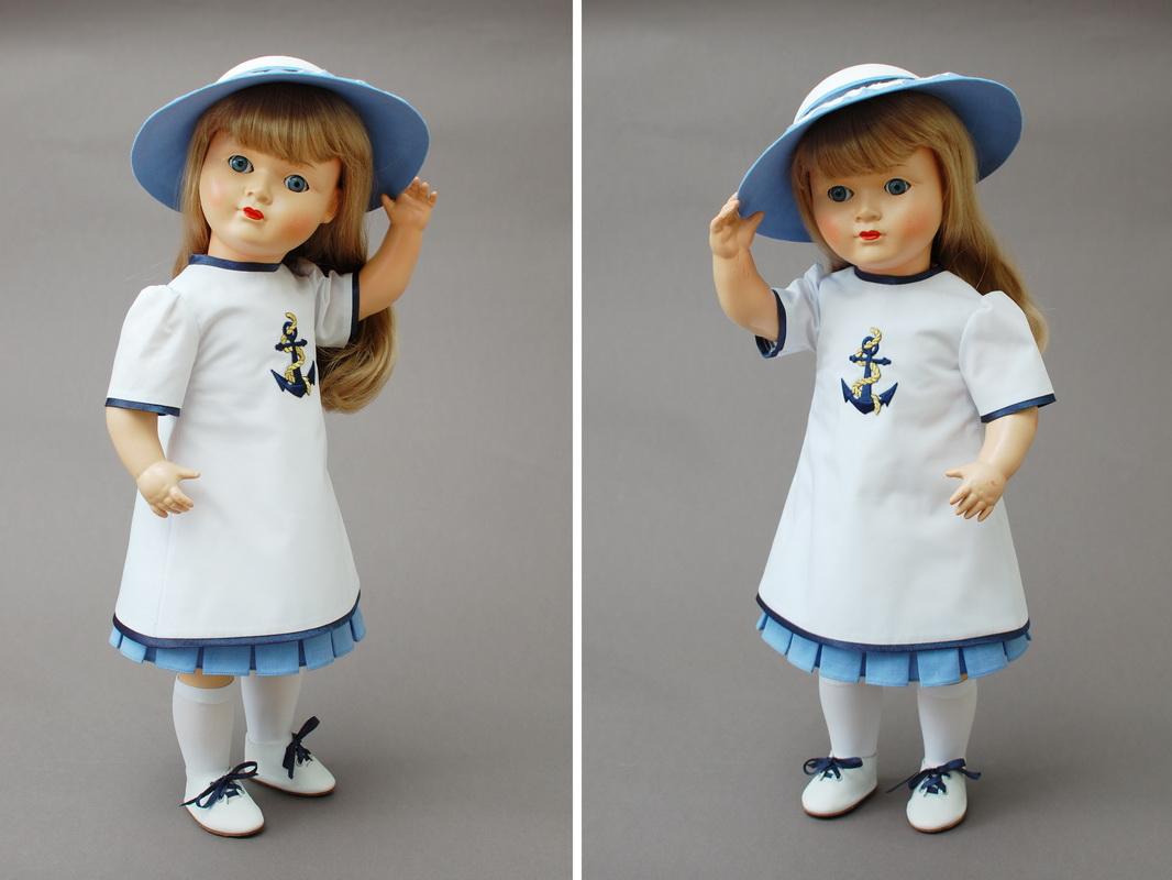 немецкая композитная кукла 17
