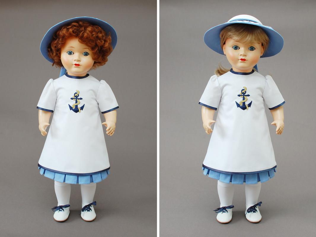 немецкая композитная кукла 21