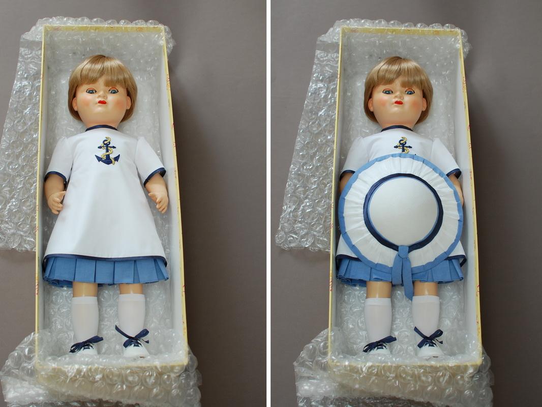 немецкая композитная кукла 22