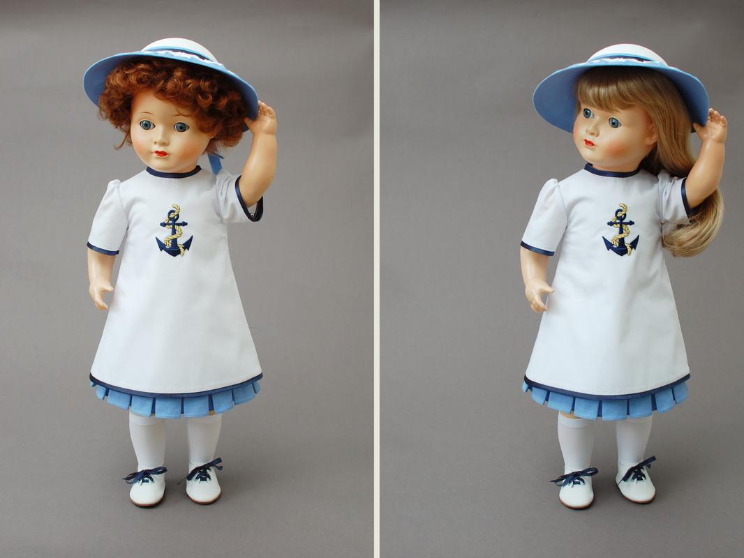 одежда для винтажной куклы