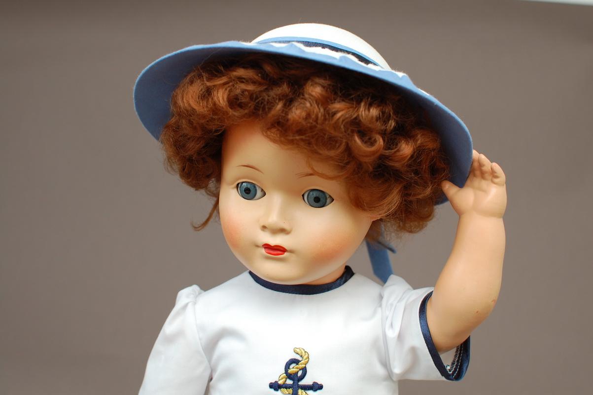 немецкая композитная кукла 55