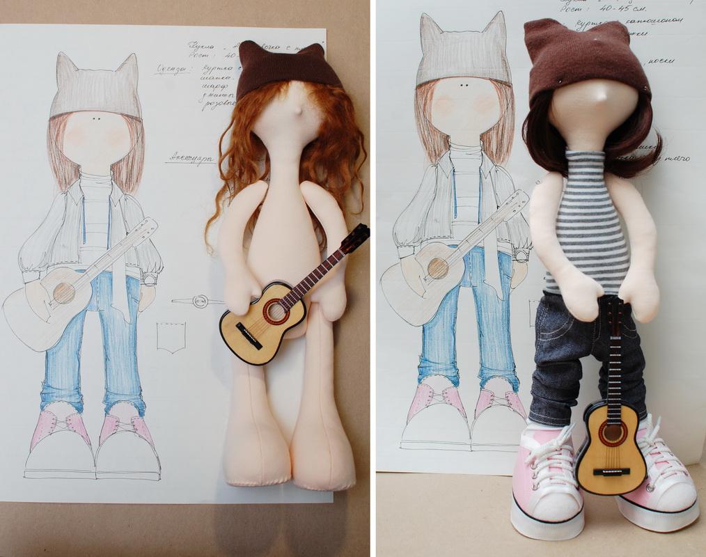 текстильная авторская кукла