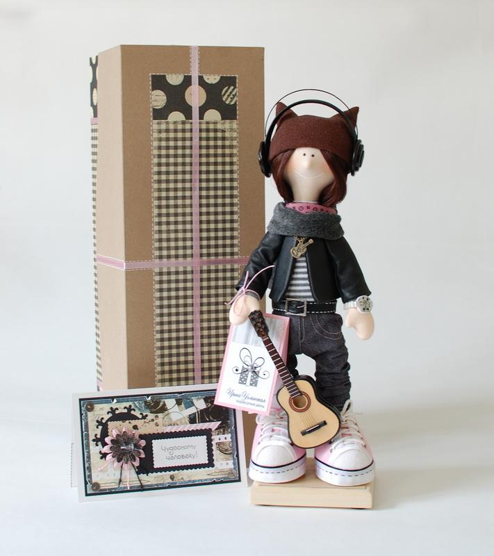текстильная кукла Лиза