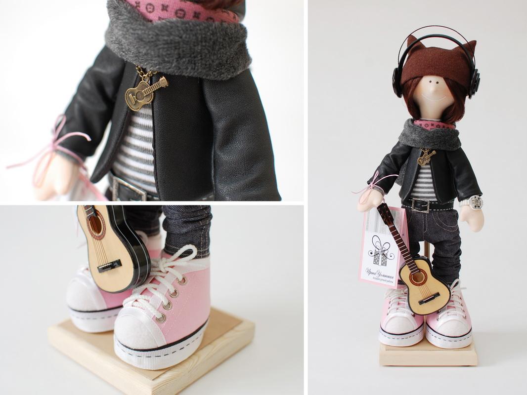текстильная кукла большеножка 11