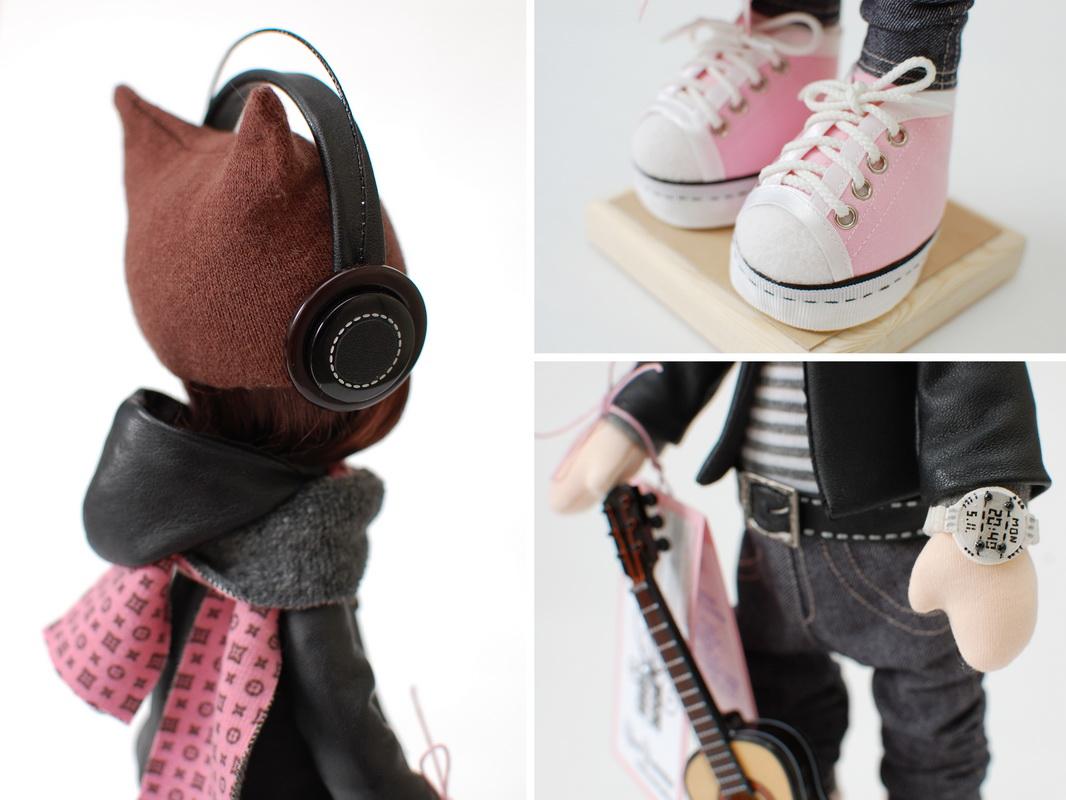 текстильная кукла большеножка 14