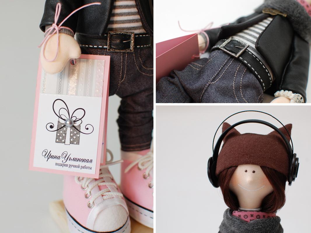 текстильная кукла большеножка 15