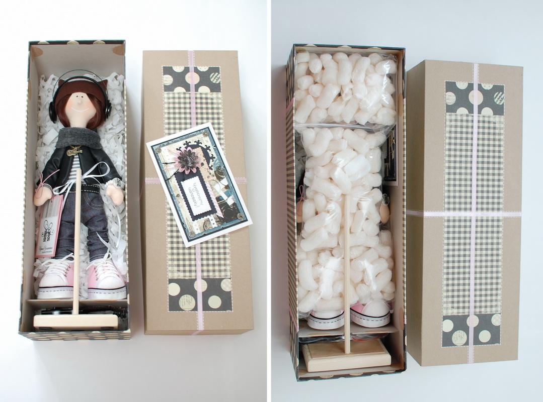 текстильная кукла большеножка 18