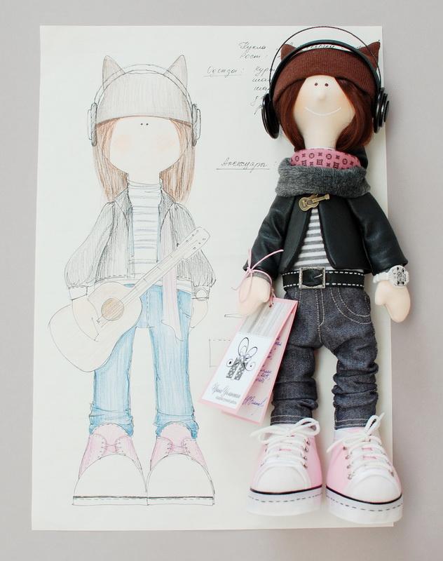 текстильная кукла большеножка 23