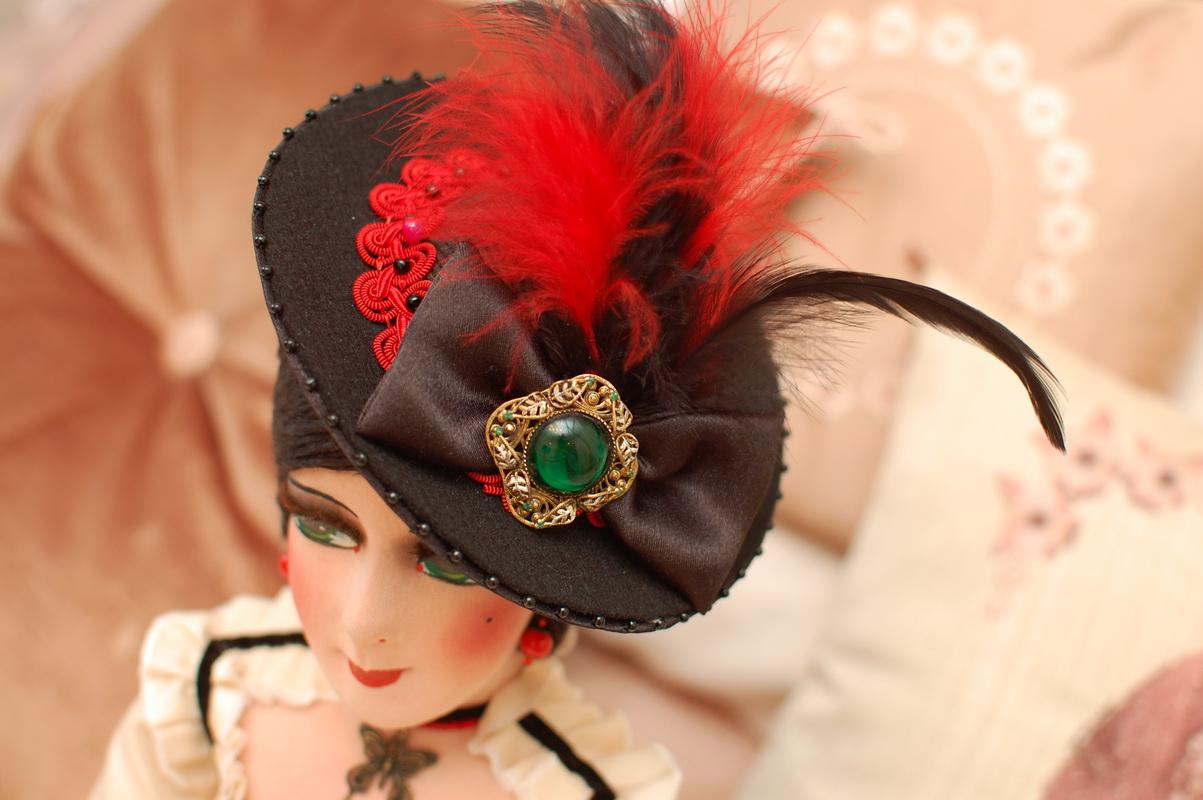 шляпка авторской будуарной куклы