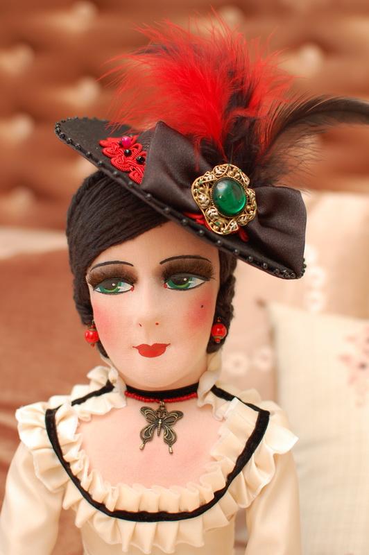 красивая авторская интерьерная будуарная кукла