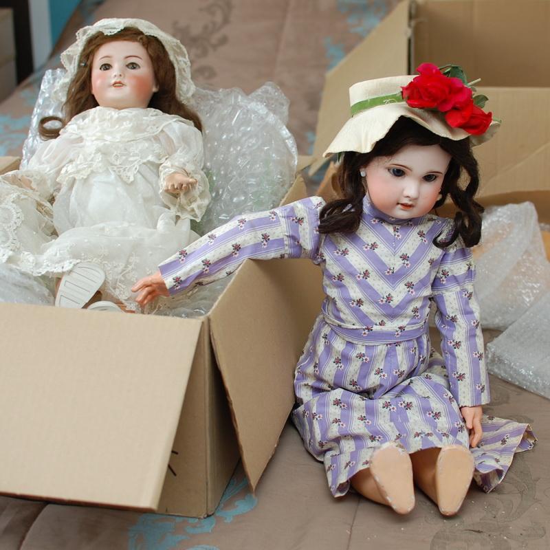 фотография антикварных кукол, полученный из Франции