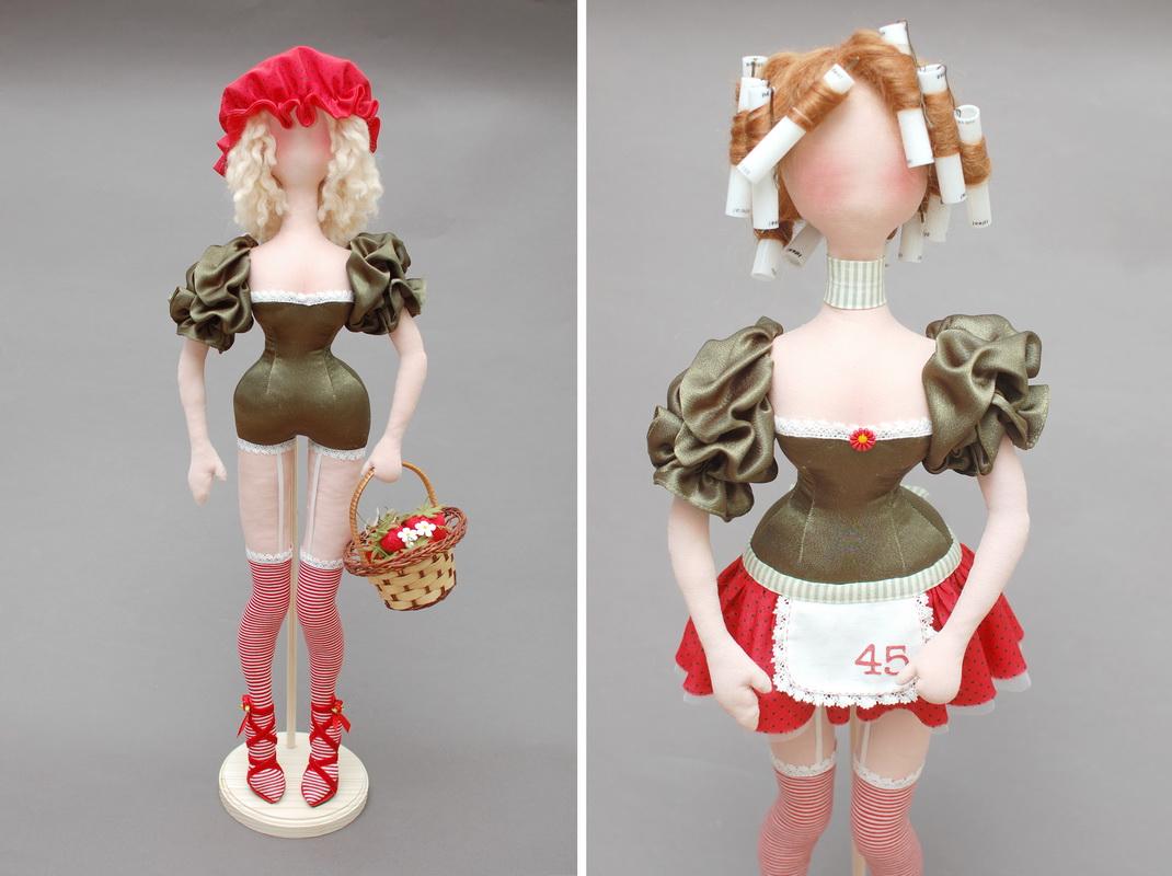 этапы создания текстильной куклы