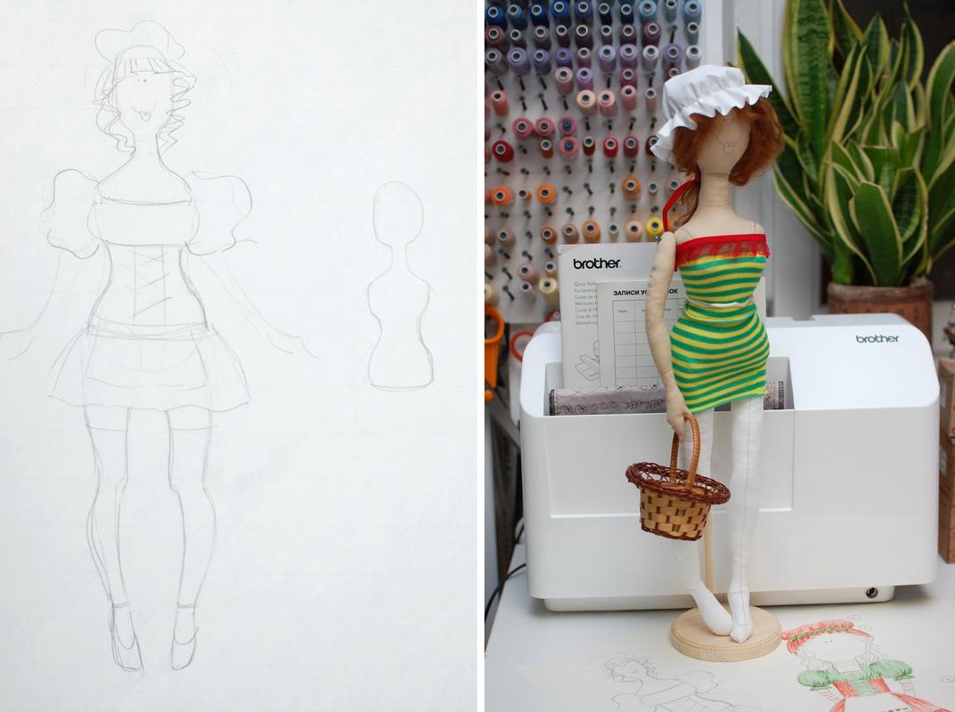процесс изготовления авторской куклы