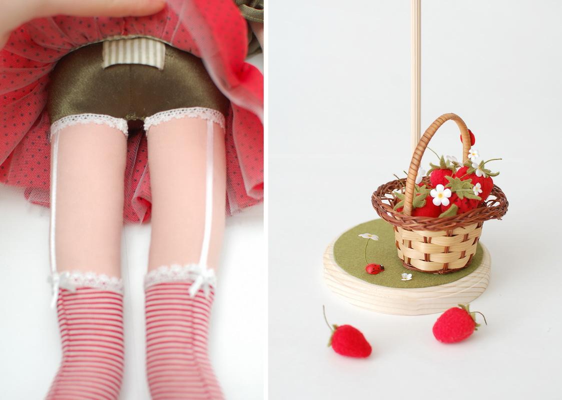 текстильная кукла Василиса Клубничкина 15