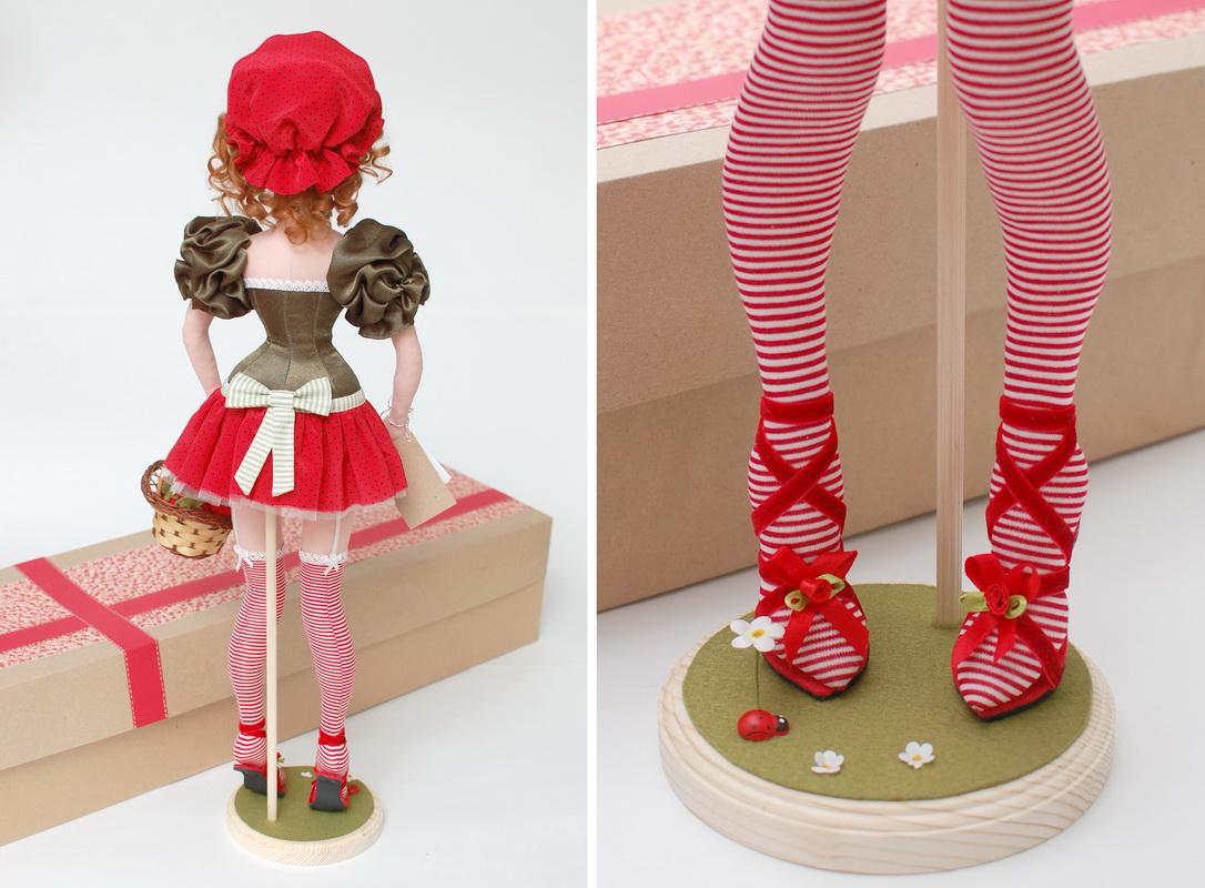 текстильная кукла Василиса Клубничкина 19