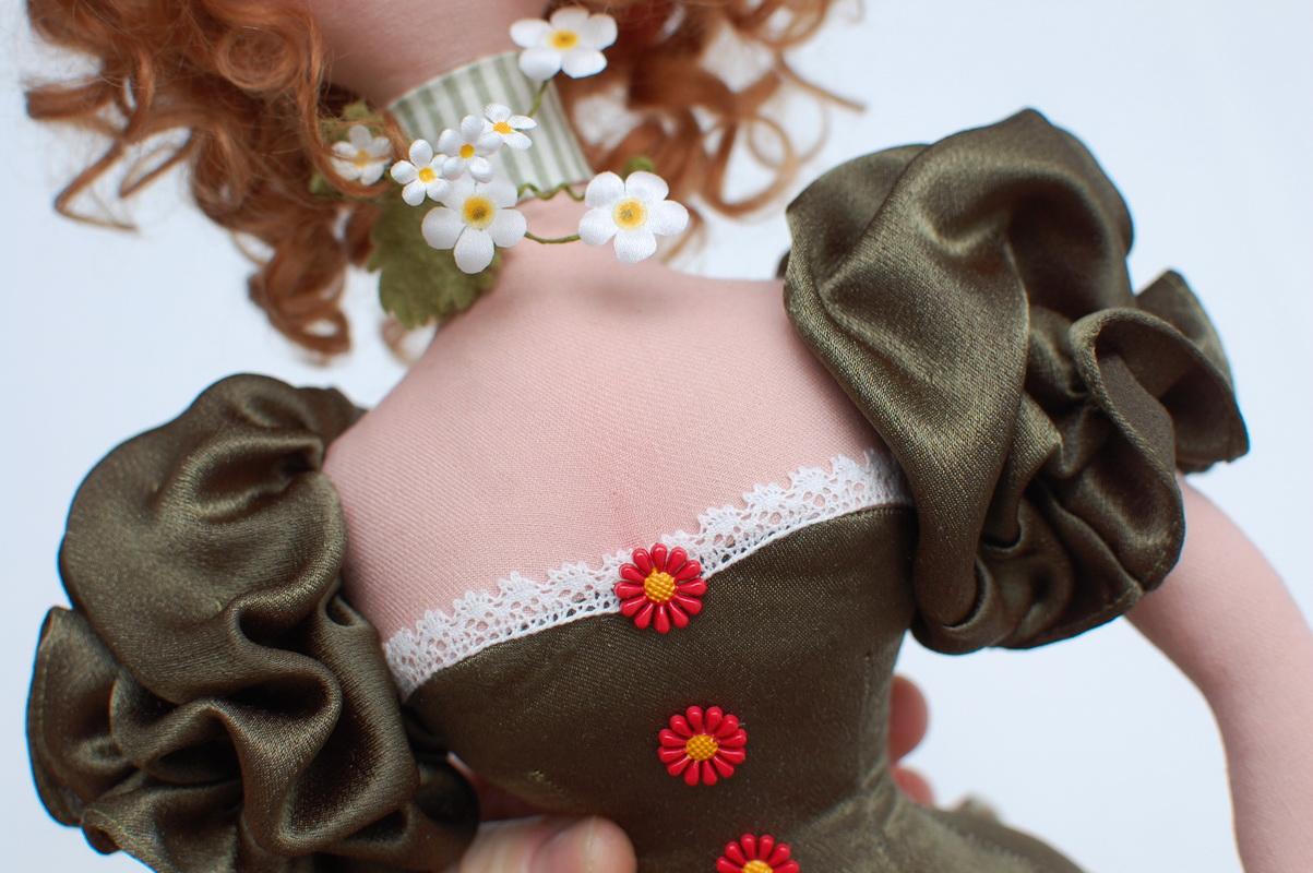 текстильная кукла Василиса Клубничкина 22