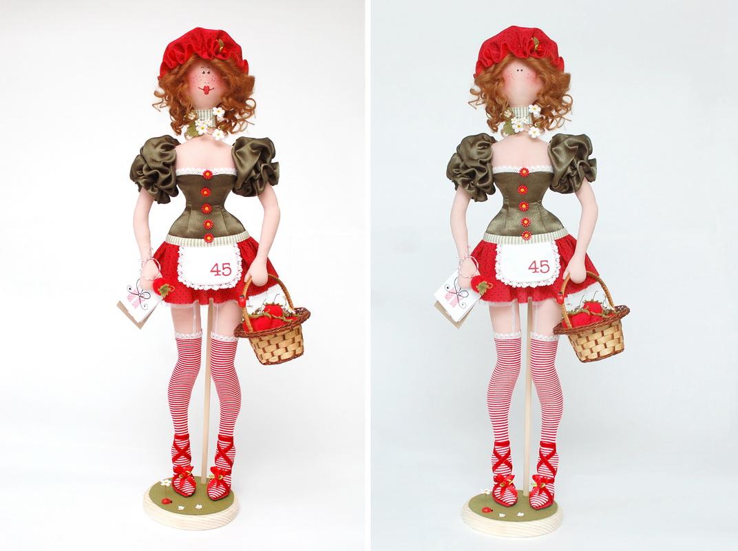 текстильная кукла Василиса Клубничкина 28