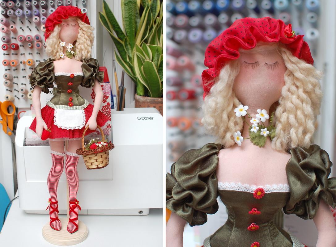 текстильная кукла Василиса Клубничкина 5