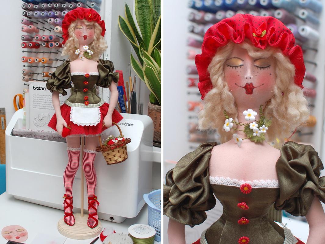 текстильная кукла Василиса Клубничкина 7