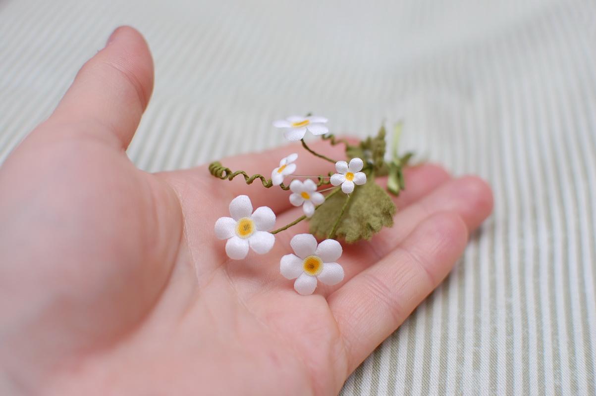 цветы из ткани для декора