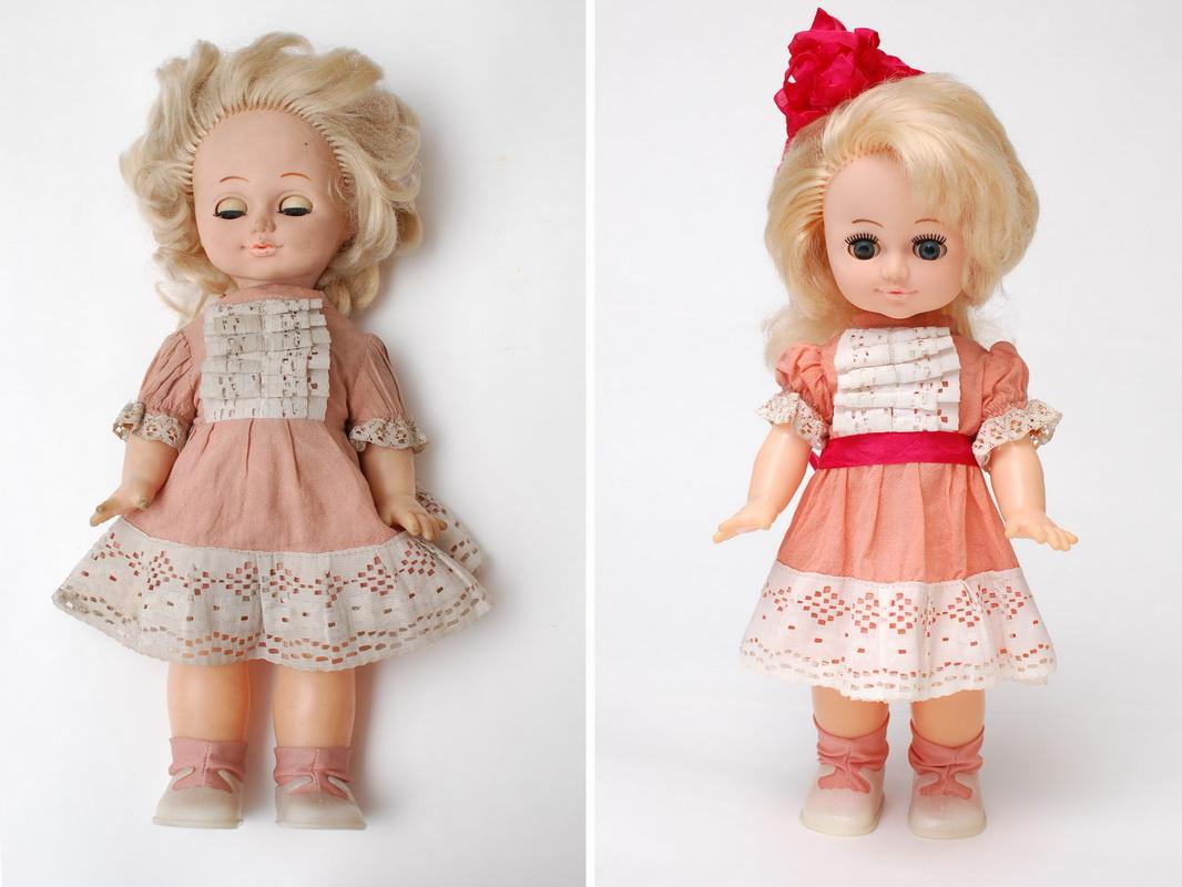 фотография советской куклы до и после ремонта