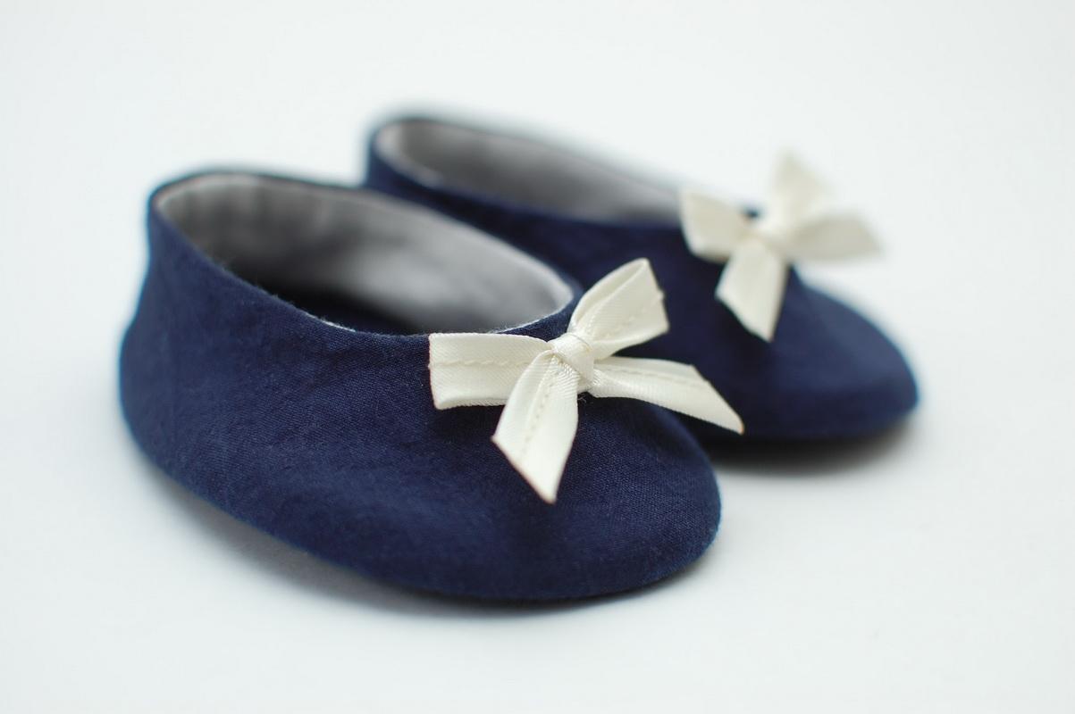 текстильные кукольные туфли