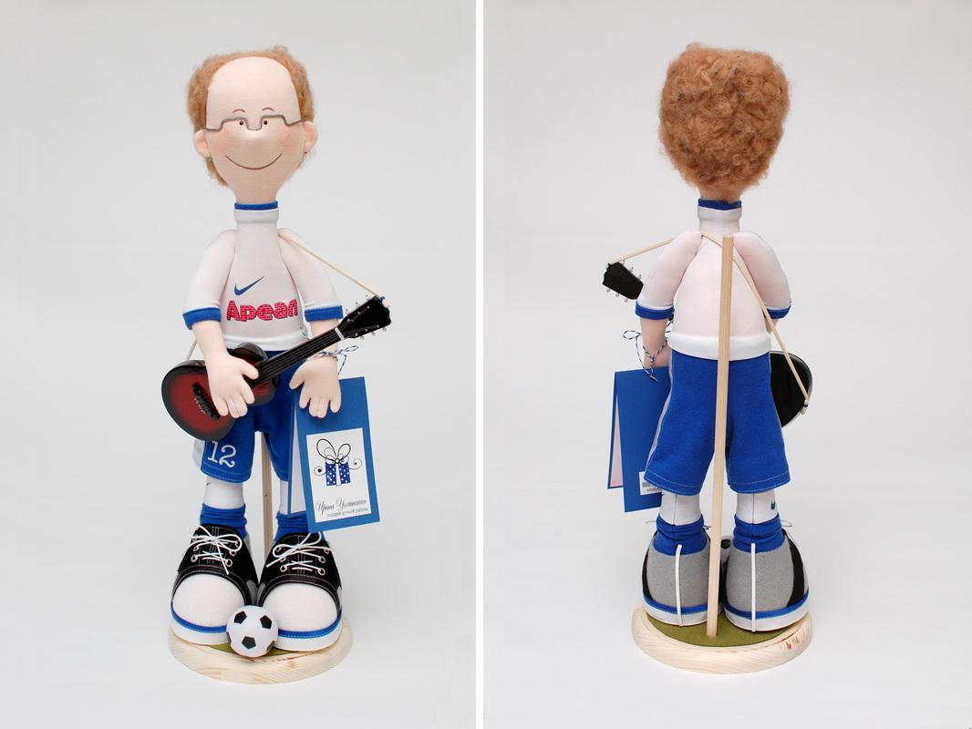 текстильная кукла футболист в подарок