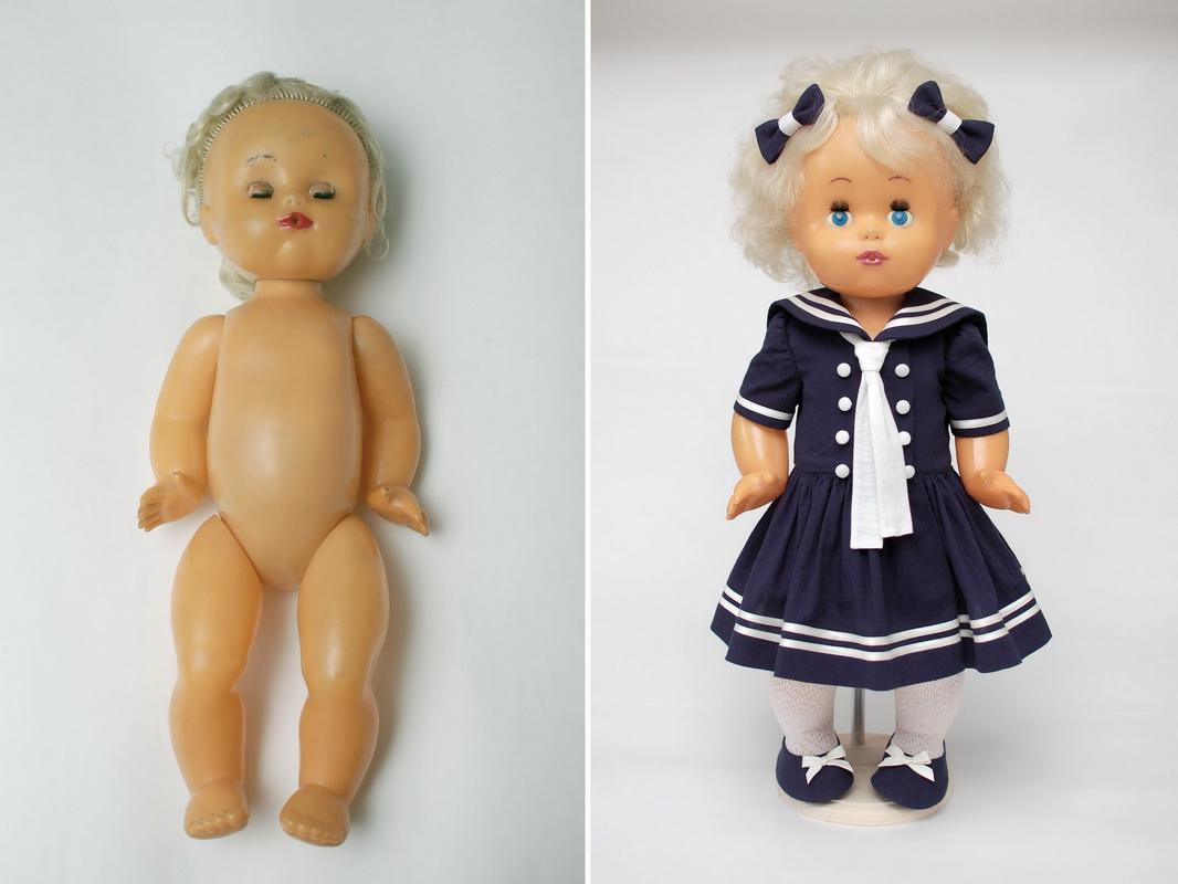 кукла советская до и после костюмирования