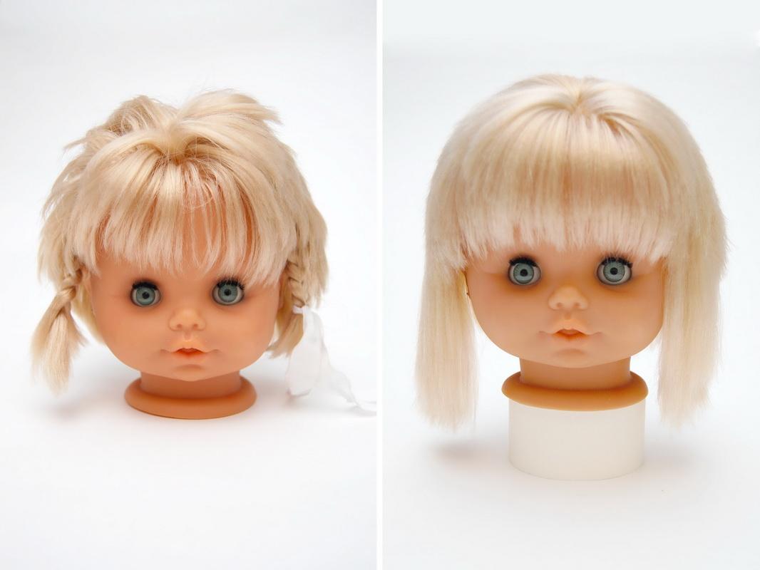 как привести волосы куклы в порядок