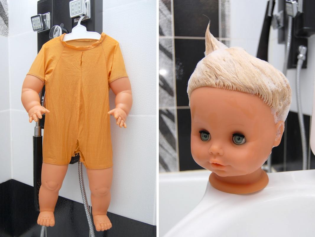 небольшой ремонт виниловой куклы