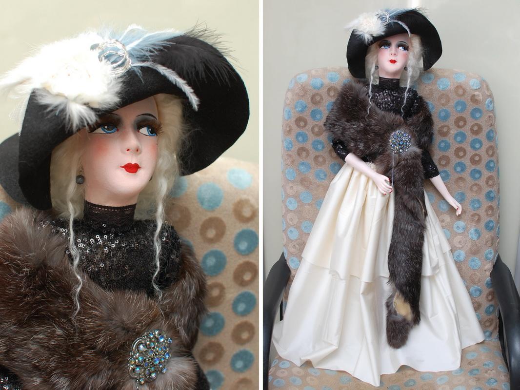будуарная кукла в стиле ар-деко