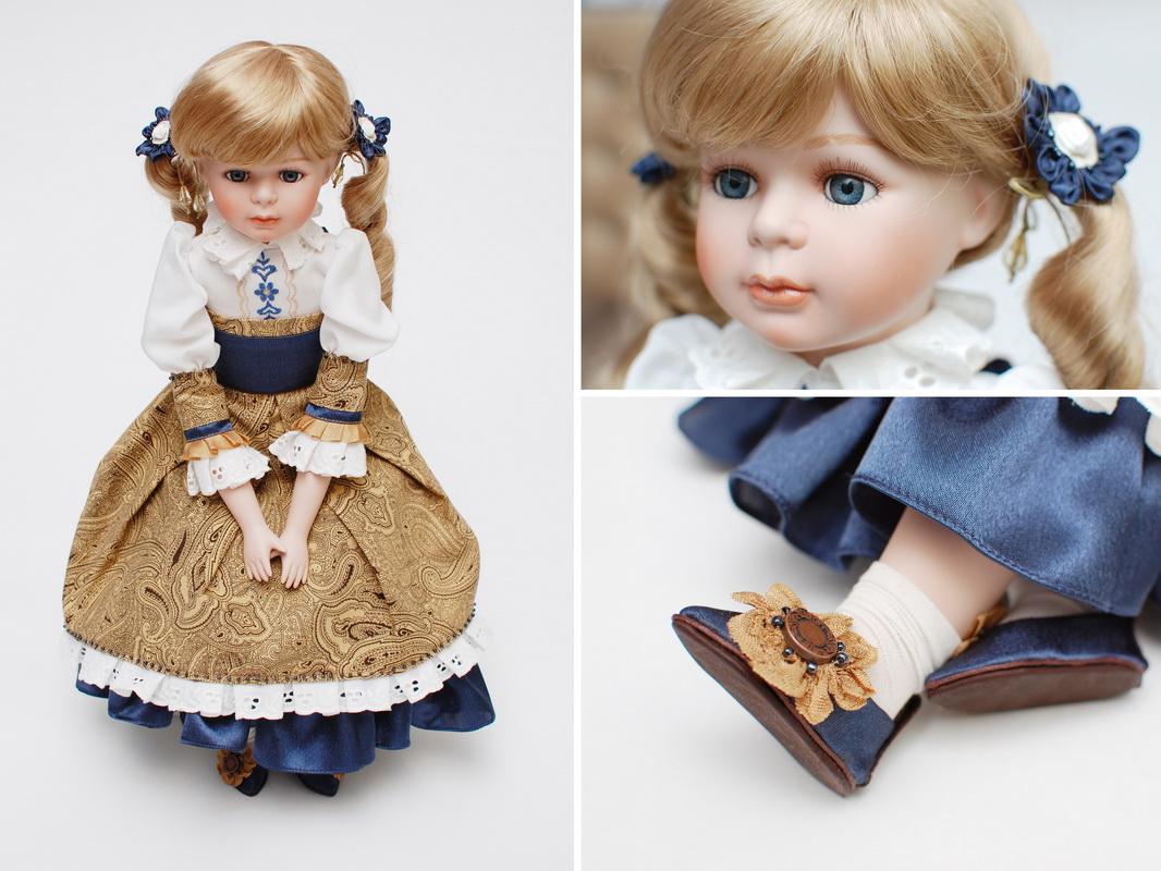 фарфоровая будуарная кукла