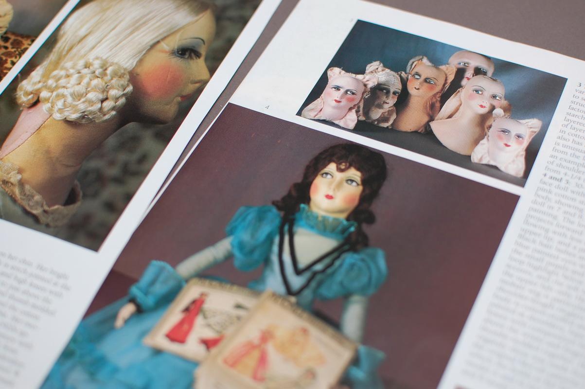 вырезка из журнала о будуарных куклах