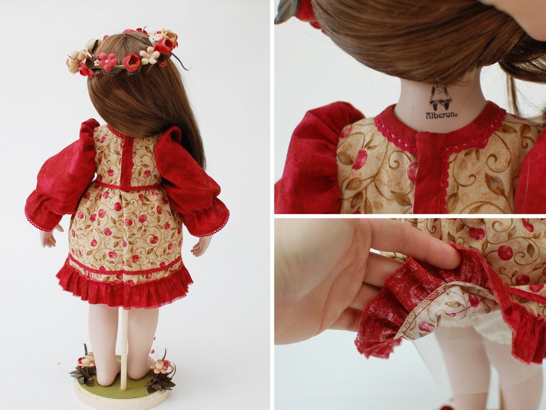 кукла вид со спины