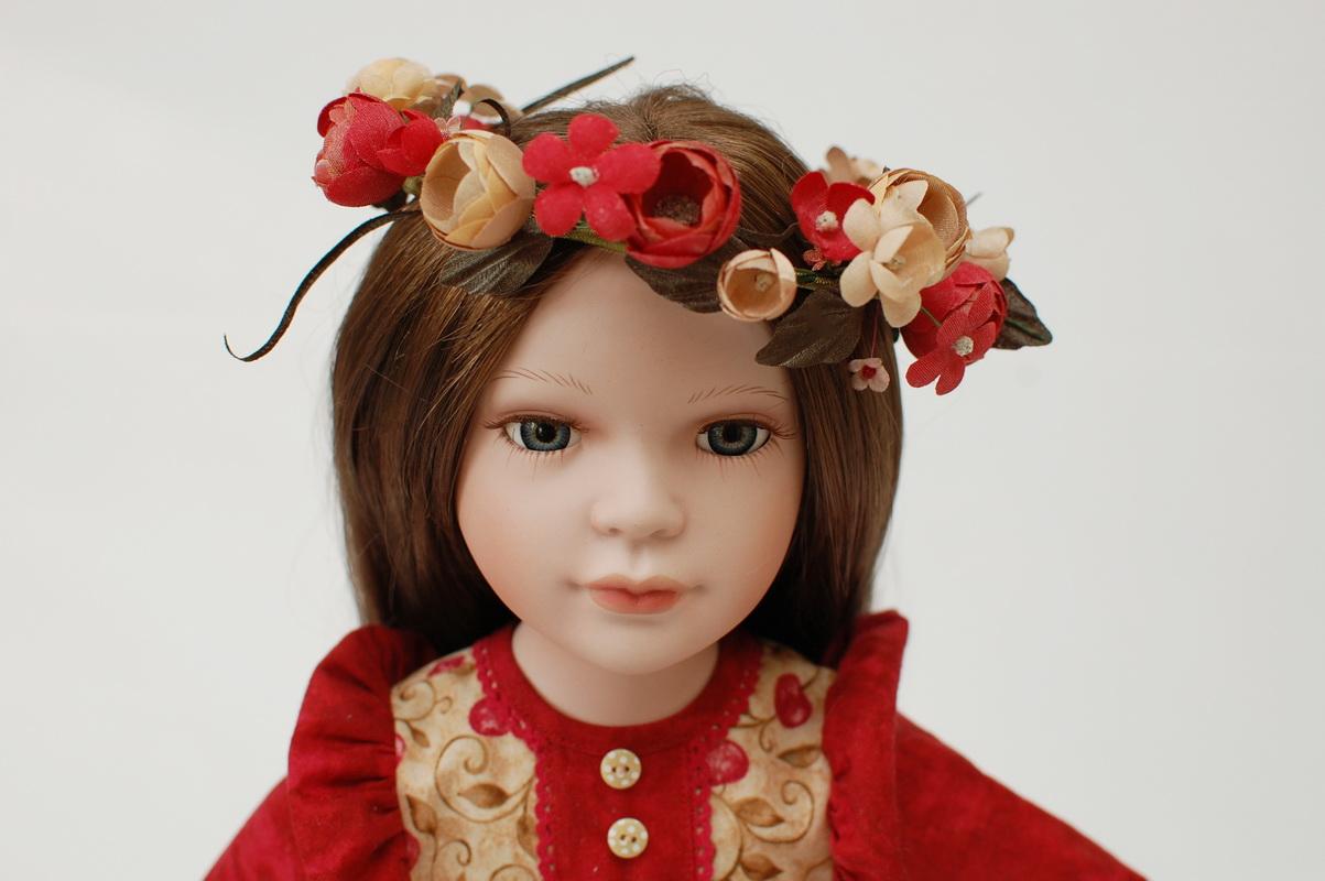 кукольный венок из цветов