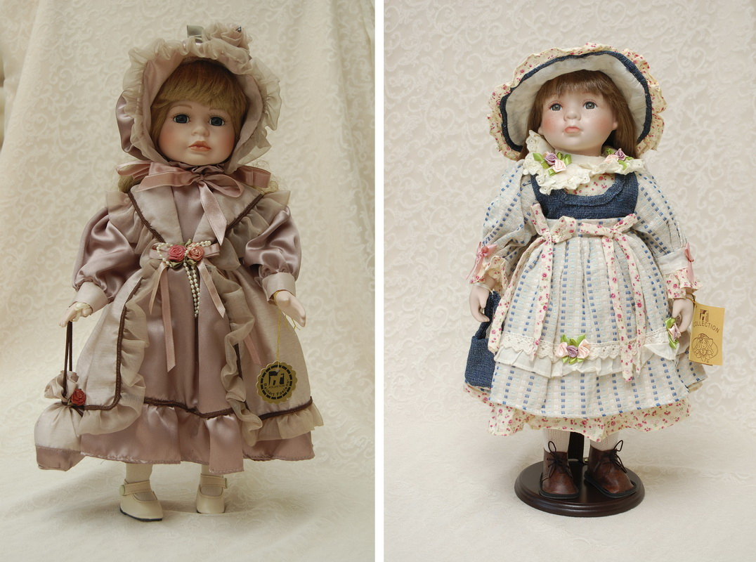 две фарфоровые куклы из коллекции