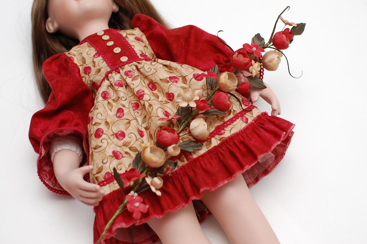 цветочки из ткани для куклы