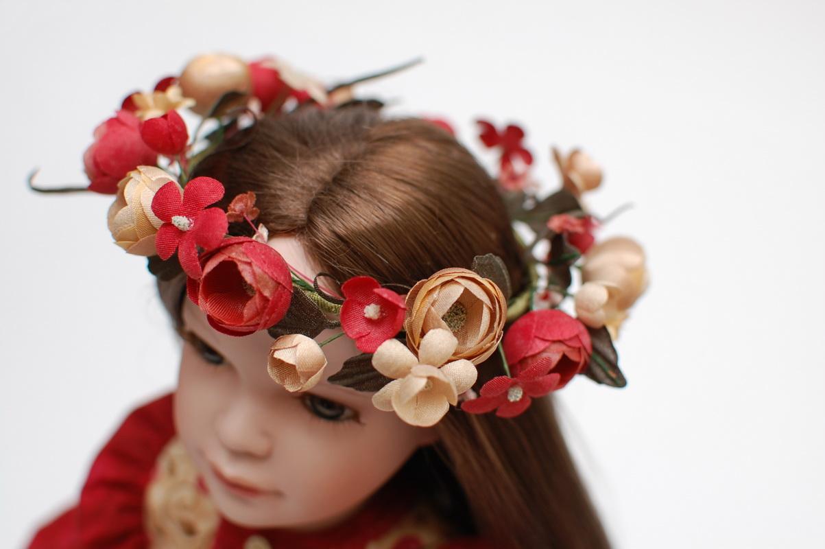 цветочный венок для куклы