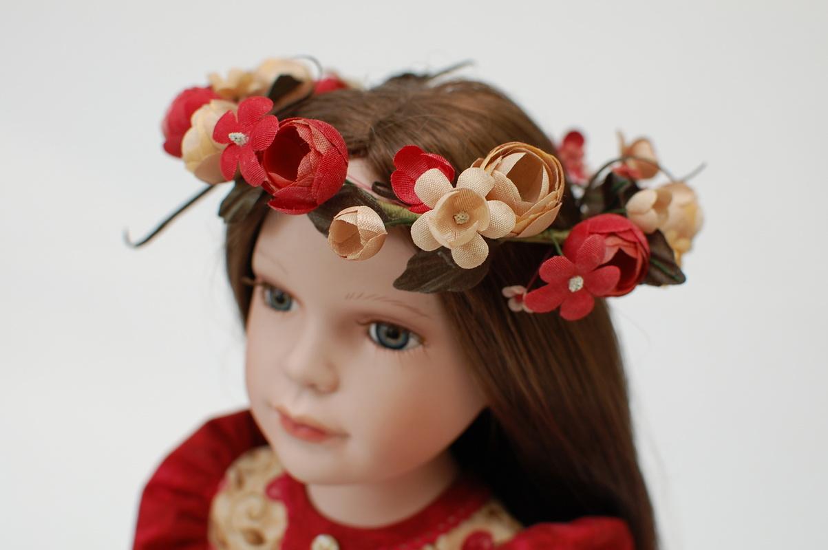венок для фарфоровой куклы